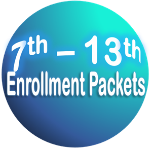 7th grade through 12th grade Registration and Enrollment Packets