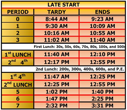 Colton High School Campus Map.Bell Schedule Bell Schedule