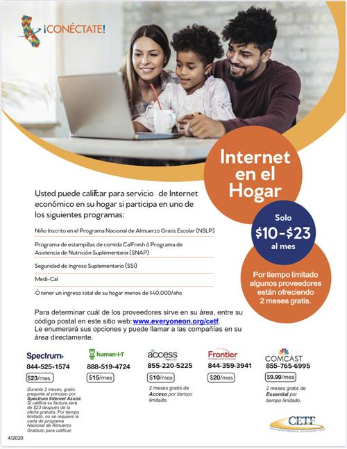 Affordable Internet Spanish