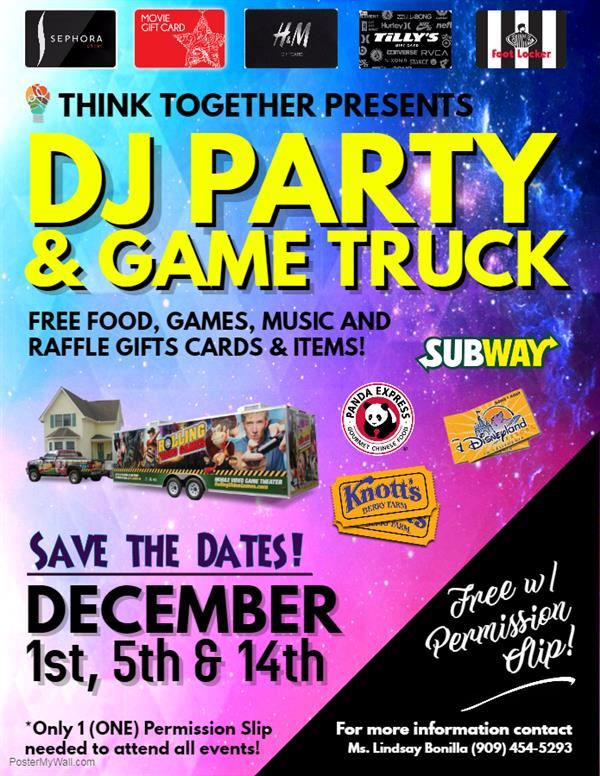 Afterschool DJ Party & Game Truck