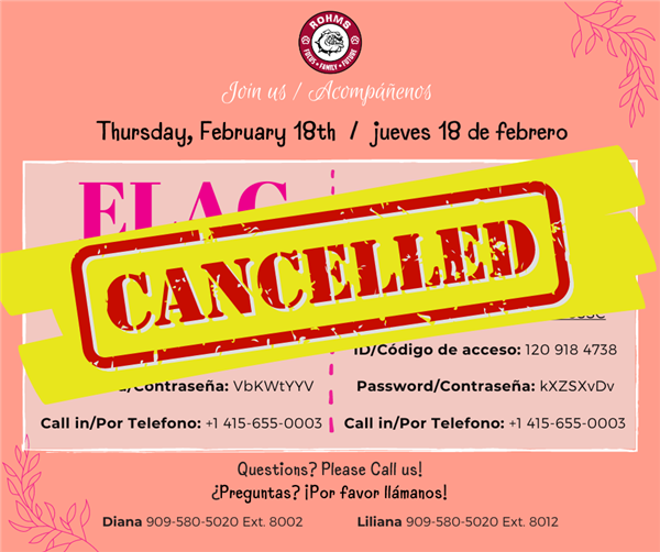 Cancelled ELAC SSC