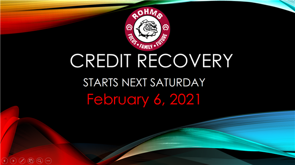Credit Recovery starts on February, 6th. Please monitor student emails for updated information coming soon!   /   La recuperación de crédito comienza el 6 de febrero. ¡Revise los correos electrónicos de los estudiantes para obtener más información!