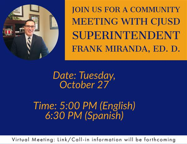 Community Meetings with Dr. Miranda