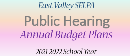 Public Hearing: EVSELPA Annual Budget Plans 2021-2022